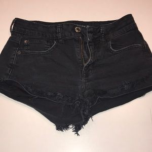 AEO 4 high rise festival black shorts